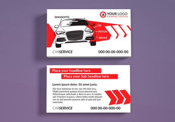 Automotive Services Business Card Layouts 2
