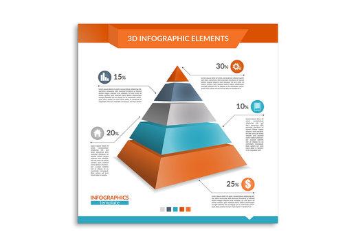 Tricolor 3D Infographic 1