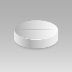 Realistic vector pill.