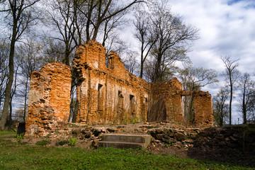 Hieronimowo - ruiny pałacu.
