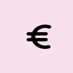 Euro Icon. flat design