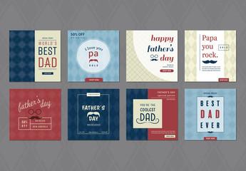 Square Father's Day Social Media Post Layouts
