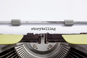 typewrite closeup - storytelling