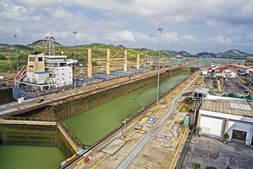 The Miraflores Lock in Panama