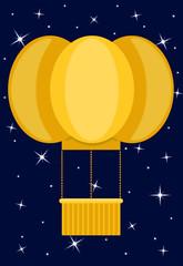 mongolfiera con stelle