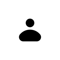 person icon on white background. Person solid vector,