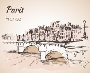Paris horizontal cityspace. Sketch.