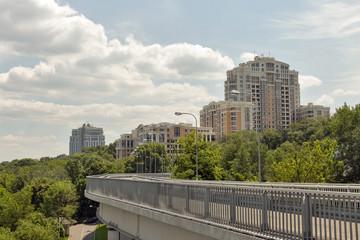 Modern luxury residential architecture in Kiev, Ukraine.