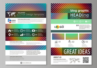 Blog graphic business templates. Page website template, abstract vector layout. Minimalistic design with circles, diagonal lines. Geometric shapes forming beautiful retro background.