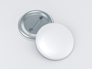 Blank button badge mockup 3d rendering