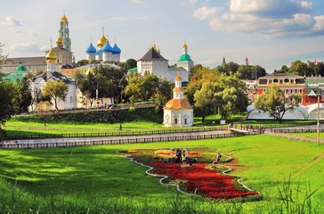 Trinity Sergius Lavra, Sergiev Posad, Russia. UNESCO World Heritage Site.