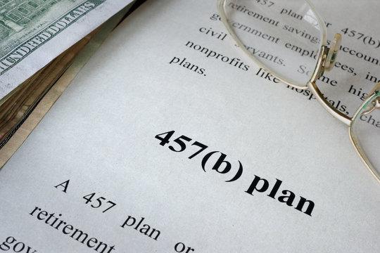 457(b) plan written in a document.