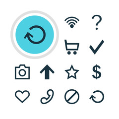 Vector Illustration Of 12 Member Icons. Editable Pack Of Asterisk, Snapshot, Access Denied And Other Elements.