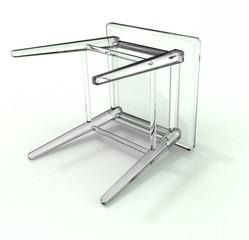 Lying glass stool