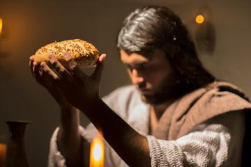 Jesus Christ holding the prayer