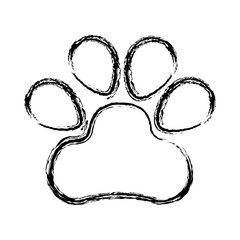 dog footprint isolated icon vector illustration design