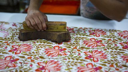 Block Printing for Textile in India. Jaipur Block Printing Traditional Process