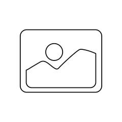 Photo of landscape symbol icon vector illustration graphic design