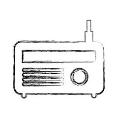 old radio isolated icon vector illustration design
