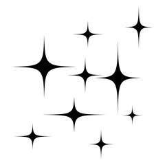 stars silhouette vector symbol icon design.