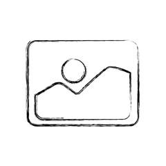 Photo of landscape icon vector illustration graphic design