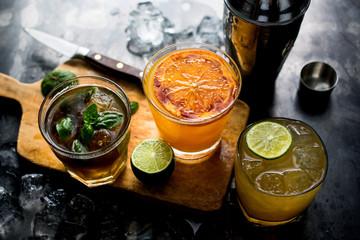 Bourbon Cocktails, Bufala Negra, Norester & Bourbon Brulee