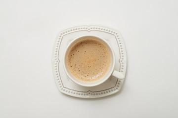 Flat lay of dark coffee