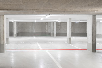 empty parking deck / garage