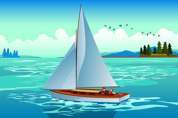 People Sailing on the Sea