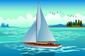People Sailing on the Sea