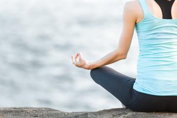 Yoga and peaceful meditation.