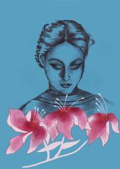 Three Flowers - Digital Painting