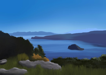 Fanette Island - Digital Painting