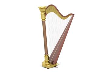 Harp, 3D rendering