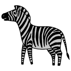 black and white zebra vector illustration