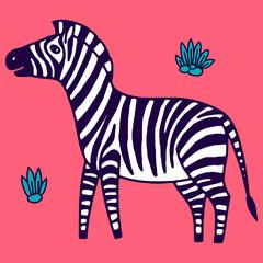 black and white zebra vector illustration