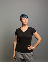 Studio portrait of a prideful young woman