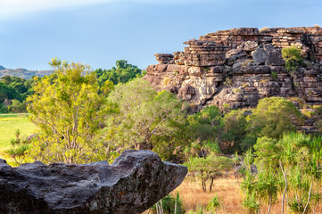 Rocks and Gum Trees at golden hour in Kakadu National Park, NT, Australia