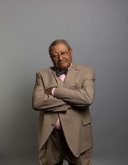 Studio portrait of a serious businessman