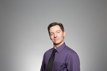 Studio portrait of a confident professional man