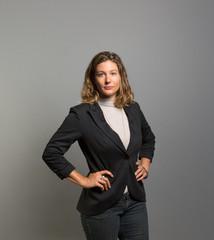 Studio portrait of a serious businesswoman
