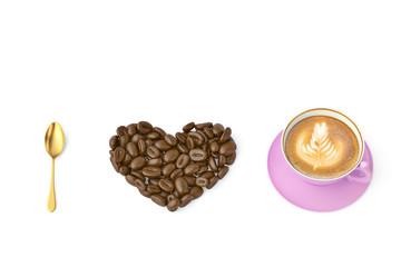 I love coffee.3D illustration.