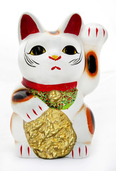 Traditional Asian Lucky Kitty figurine.
