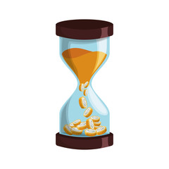 Hourglass antique instrument icon vector illustration graphic design