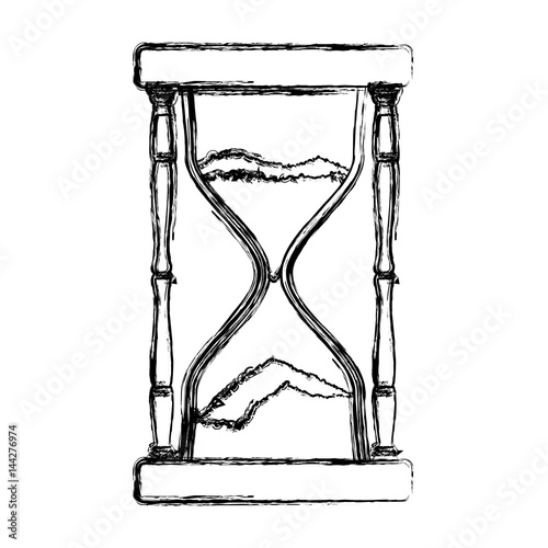 quothourglass antique instrument icon vector illustration