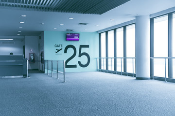 Gate terminal airport | Travel transportation business photograph