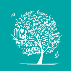 Music tree, sketch for your design
