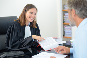meeting at the lawyer's office