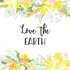 Greeting card of the Earth Day