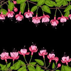 Fuchsia Seamless Double Border